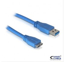CABLE USB 3.0 A/M-MICRO B/M 1M AZUL NANOCABLE