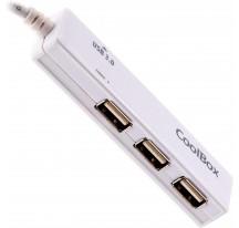 HUB 4 PUERTOS USB 2.0x3 3.0x1 COOLBOX