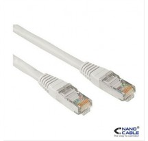 CABLE RED LATIGUILLO RJ45 CAT.5E UTP AWG24,30M GRIS NANOCABLE