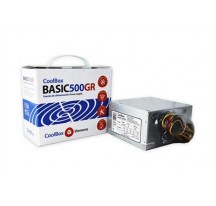 FUENTE ATX 500W COOLBOX BASIC500GR (20+4PIN)