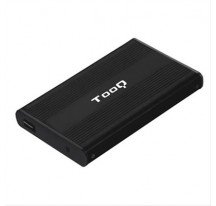 "CAJA EXTERNA 2.5"" SATA TOOQ NEGRA USB 2.0"