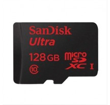MEMORIA MICRO SD 128GB SD/HC SANDISK+ADA CL10