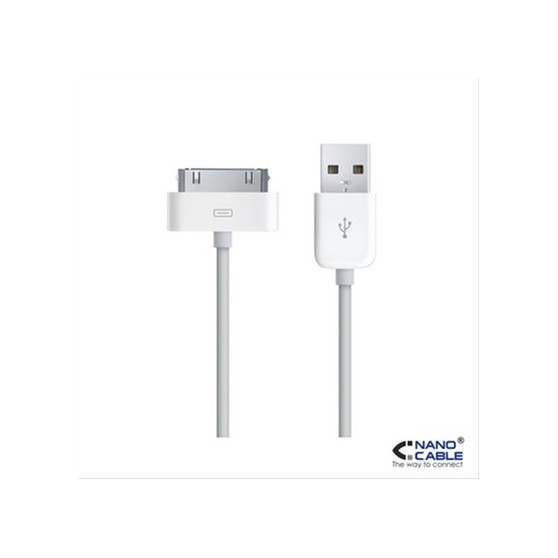 CABLE IPOD/IPHONE A USB 2.0 A/M 0,8M NANOCABLE