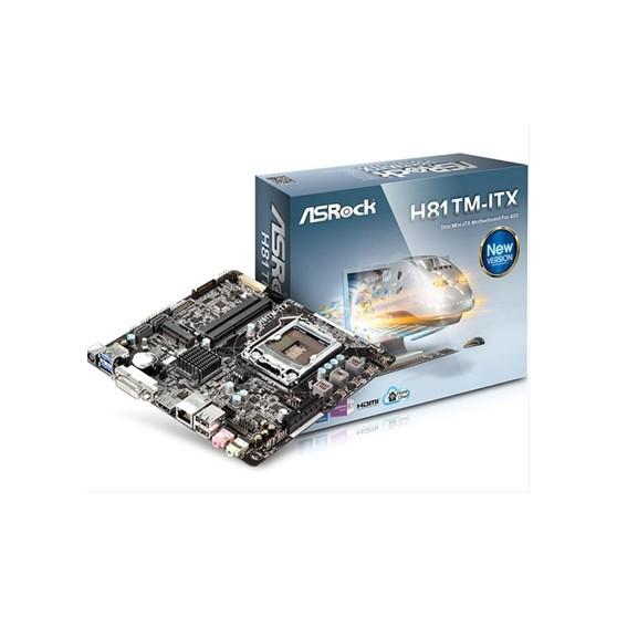PLACA i3/i5/i7 ASROCK H81TM-ITX R2.0 MINI ITX (S.1150)
