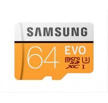 MEMORIA MICRO SDXC 64GB SAMSUNG EVO CON ADAPTADOR CLASE 10