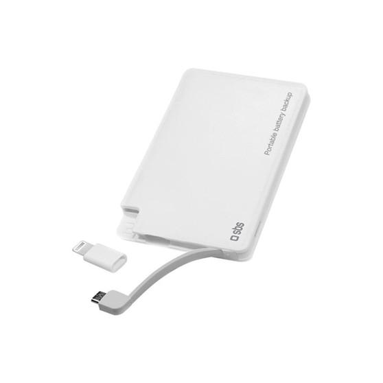 SBS BAT EXT LI-ION 3A USB1A C/CABLE LIGHTNIN·
