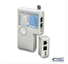 TESTEADOR PARA CABLE RJ11/RJ12/RJ45/USB/COAXI