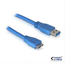 CABLE USB 3.0 A/M-MICRO B/M 2M AZUL NANOCABLE