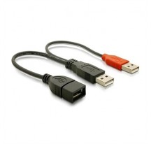 CABLE USB 2.0+ALIM.TIPO A/M+A ALIM./M-A/H 15C