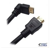 CABLE HDMI ACODADO V1.4 NANOCABLE ALTA VELOCI