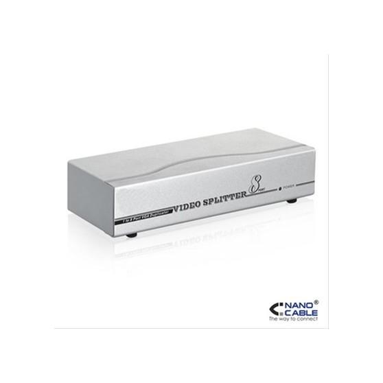 SPLITTER VGA 8 PUERTOS 250MHz  CON ALIM.