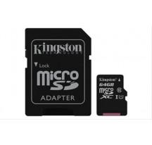 MEMORIA MICRO SD 64GB CLASE 10 SDHC KINGSTON