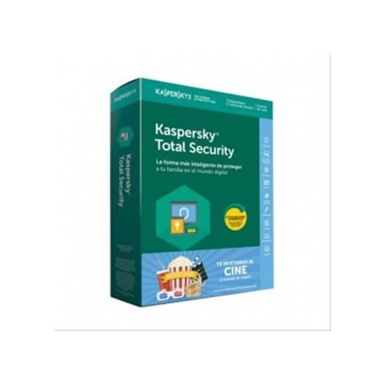 KASPERSKY TOTAL SECURITY 1 USUARIO 3 DISPOSITIVOS + 1 ENTRADA DE CINE