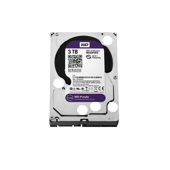 "HD 3.5"" WESTERN DIGITAL 3TB SATA3 64MB PURPL"