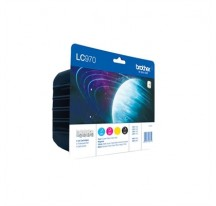 TINTA BROTHER  LC970 NEGRO+3 COLORES BLISTER
