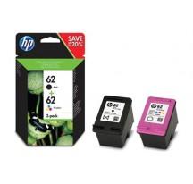 CARTUCHO TINTA HP PACK 62 NEGRO+62 COLOR CZ993A#BHC/B9S64A/B9S79A/E4W47A/K7G89A/N9U88A