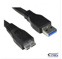 CABLE USB 3.0 A/M-MICRO B/M 1M NEGRO NANOCABLE