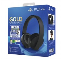 AURICULARES SONY PS4 GOLD WIRELESS BLACK FORNITE VCH (2019)