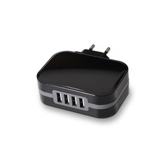 CARGADOR DE PARED USB TOOQ TQWC-1S04 4XUSB